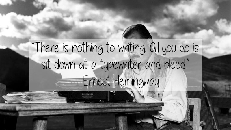 ernest hemingway quote 23 Thought Provoking Quotes by Historys Favorite Writers