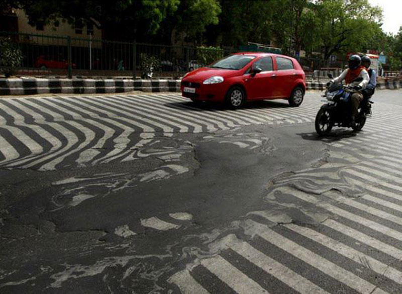 Picture of the Day: It's So Hot in India the Streets are Melting