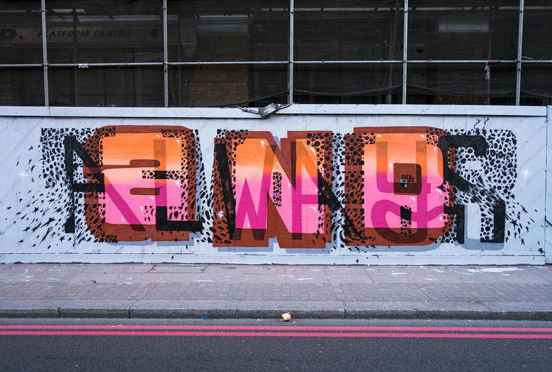 Multi-Layered Graffiti Murals of Popular Expressions by Pref (3)