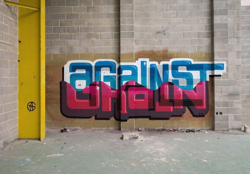 Multi-Layered Graffiti Murals of Popular Expressions by Pref (5)