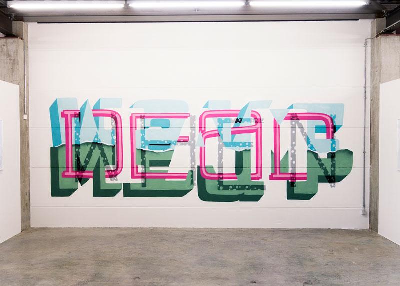 Multi-Layered Graffiti Murals of Popular Expressions by Pref (6)