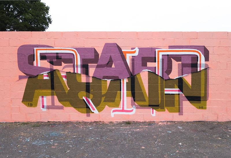 Multi-Layered Graffiti Murals of Popular Expressions by Pref (8)