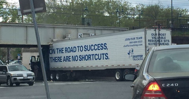 on the road to success there are no shortcuts The Shirk Report   Volume 317