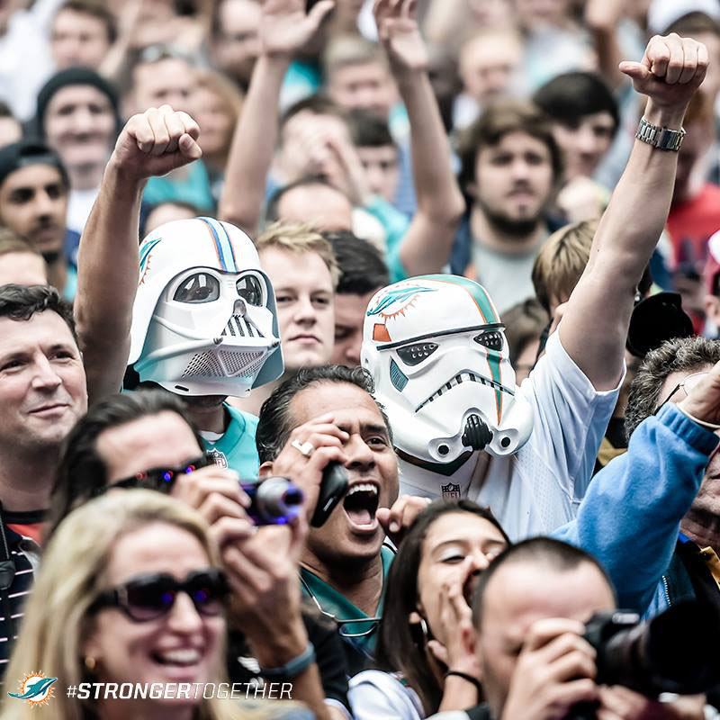 stormtrooper miami dolphins fans