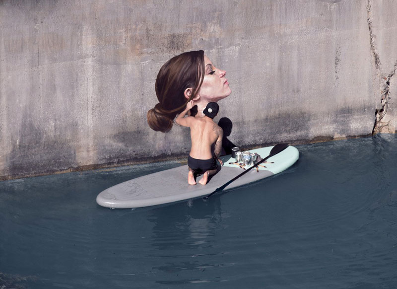 street Artist hula Uses Paddleboard to Paint in Hard to Reach Places (10)