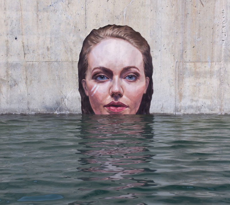 street Artist hula Uses Paddleboard to Paint in Hard to Reach Places (3)