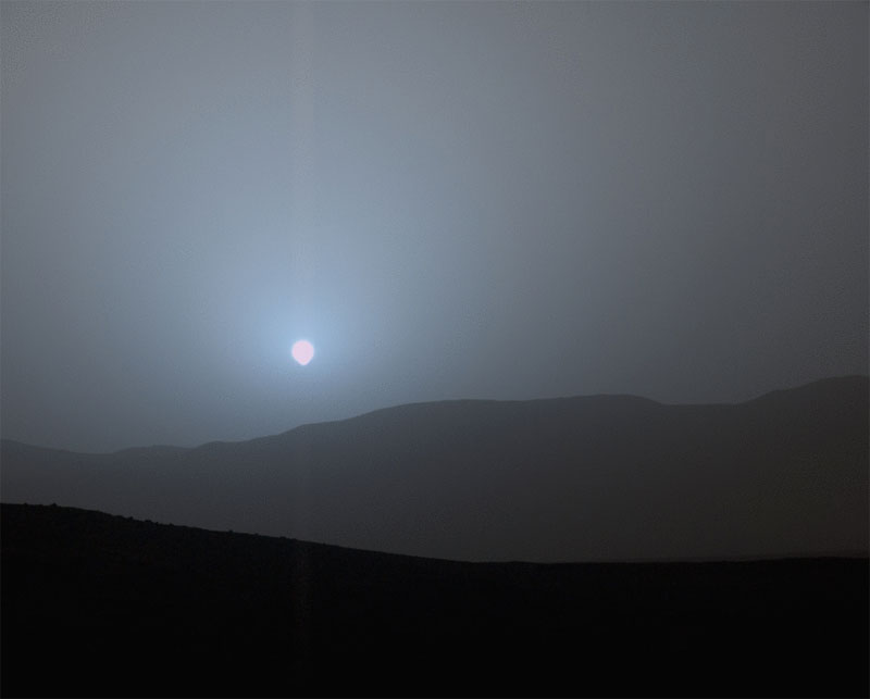 sunset on mars Picture of the Day: Sunset on Mars
