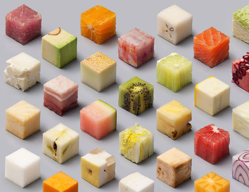 Unprocessed Foods Cut Into Perfect Cubes by Lernert and Sander (1)