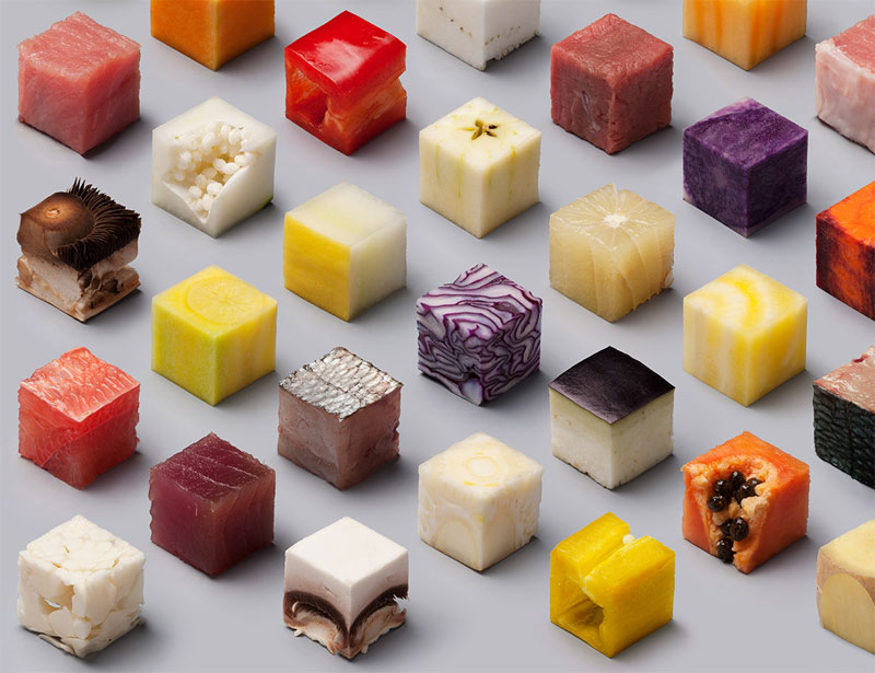 Unprocessed Foods Cut Into Perfect Cubes by Lernert and Sander (2)
