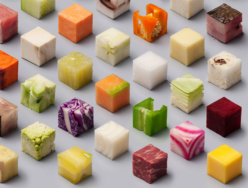 Unprocessed Foods Cut Into Perfect Cubes by Lernert and Sander (4)