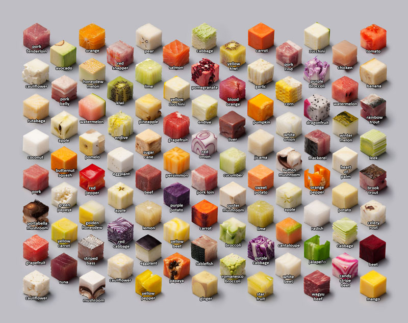 Unprocessed Foods Cut Into Perfect Cubes by Lernert and Sander (5)