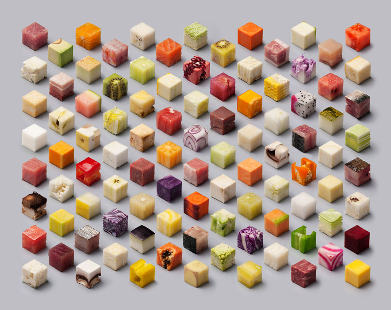 Unprocessed Foods Cut Into Perfect Cubes by Lernert and Sander (6)
