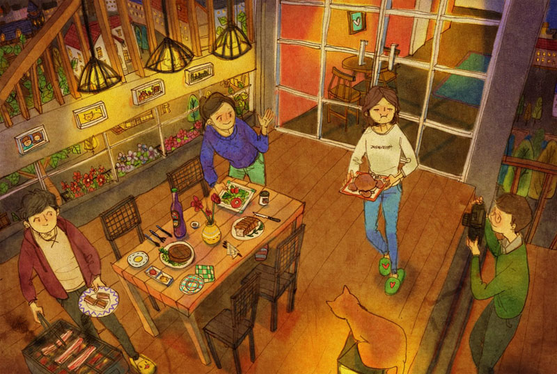Artist Puuung illustrates What Real Love Looks Like (16)