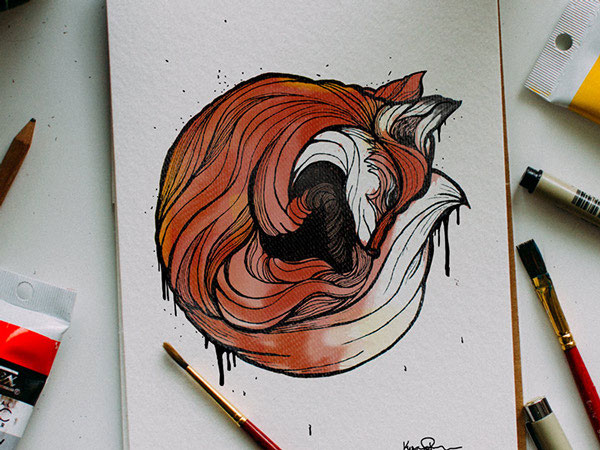 Artists Challenge Each Other to a Daily Animal Alphabet Drawing Duel (3)