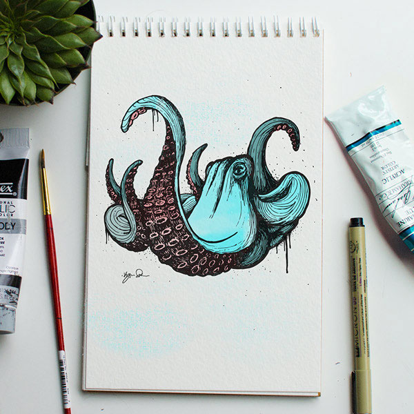 Artists Challenge Each Other to a Daily Animal Alphabet Drawing Duel (6)
