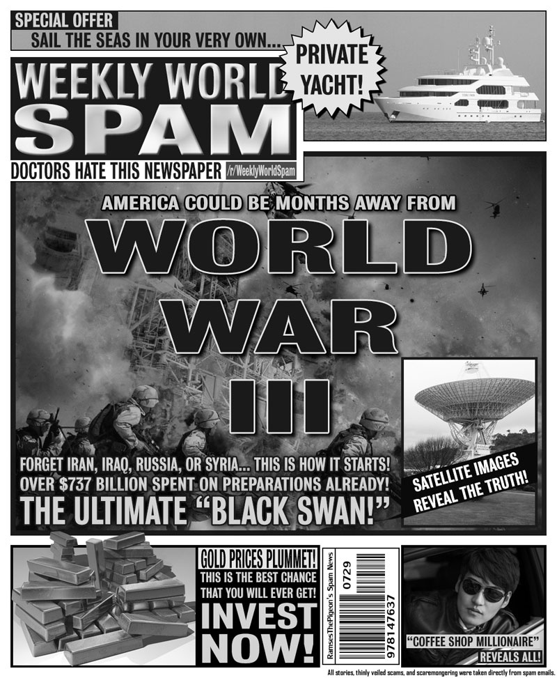 artists turn spam headlines into tabloid covers (1)