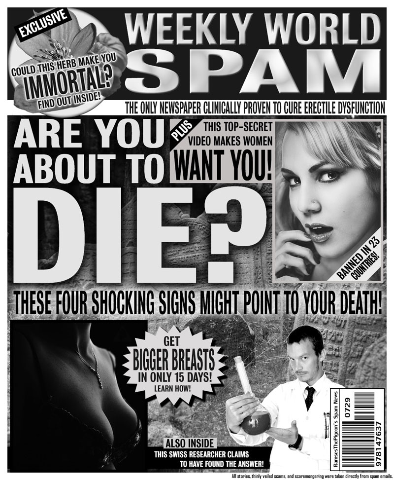 artists turn spam headlines into tabloid covers (4)