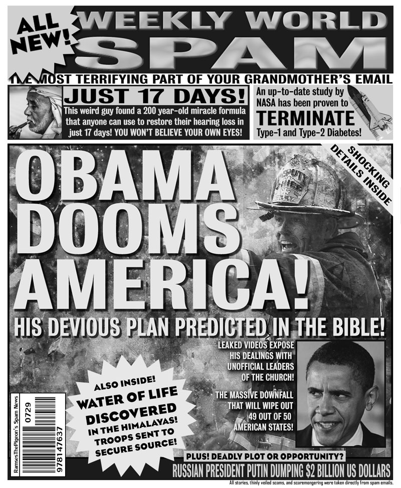 artists turn spam headlines into tabloid covers (6)