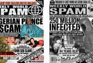 Artists are Turning Spam Headlines Into Tabloid Covers and they Look Identical