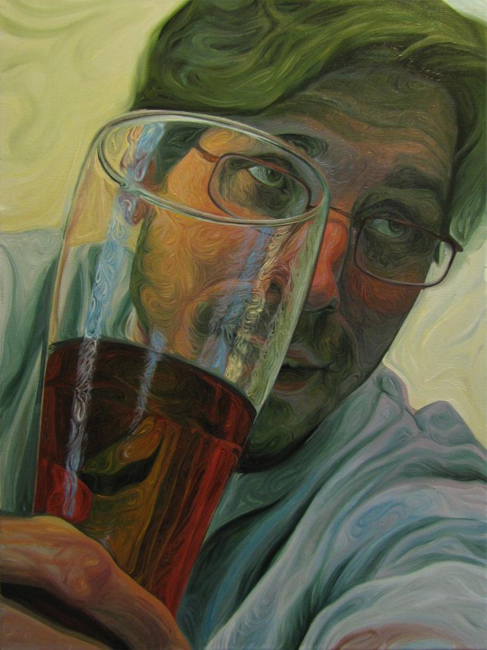 Beer Googles Oil Painting Series by Christopher Mangan (1)