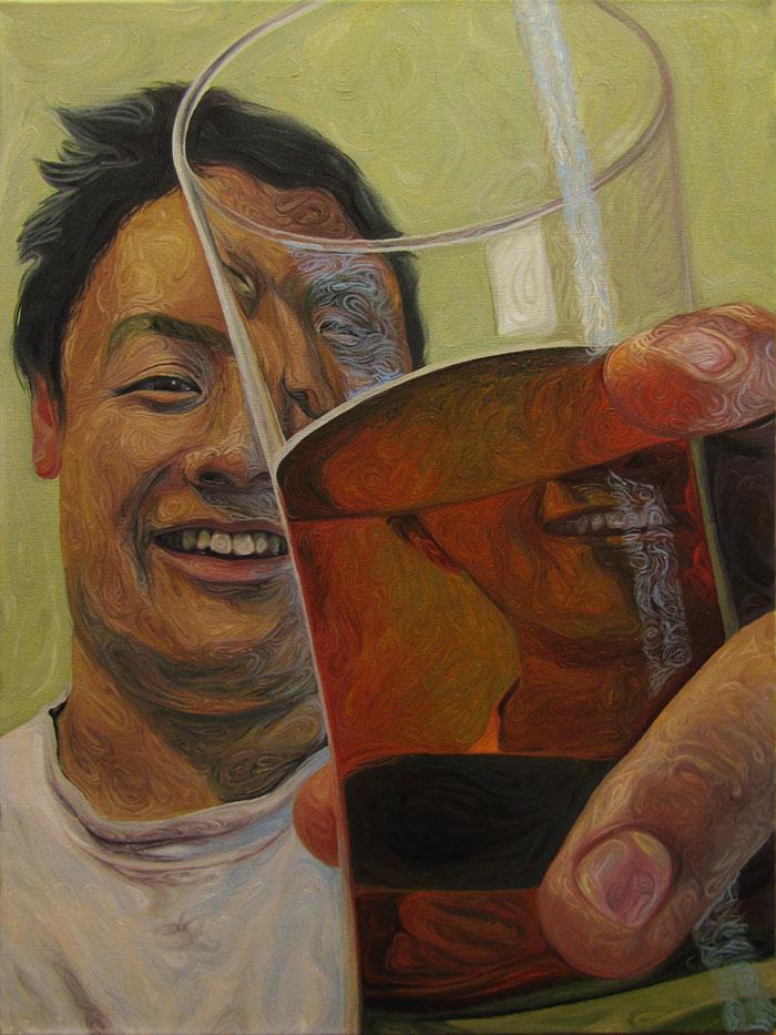 Beer Googles Oil Painting Series by Christopher Mangan (3)