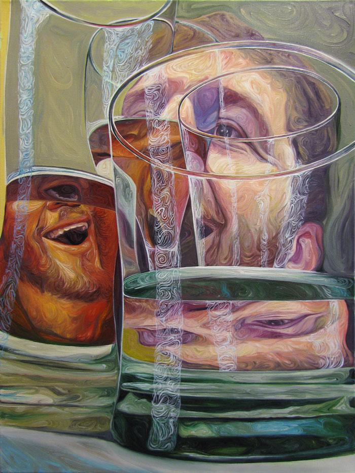 Beer Googles Oil Painting Series by Christopher Mangan (4)