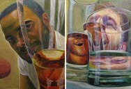 """""""Beer Goggles"""" Oil Painting Series by Christopher Mangan"""