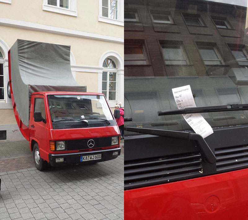City Issues Parking Ticket to Car Sculpture it Commissioned