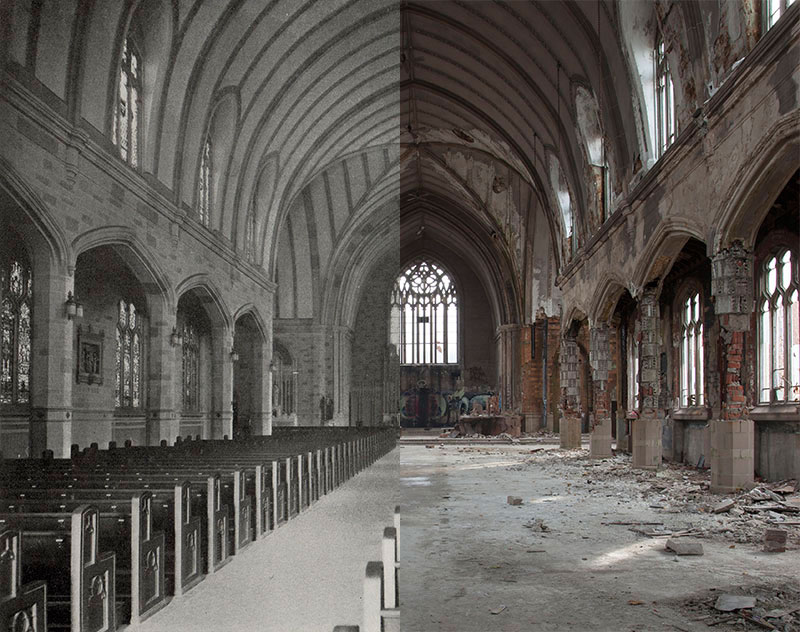 Historic Photos of Detroit and their Modern Day Equivalent