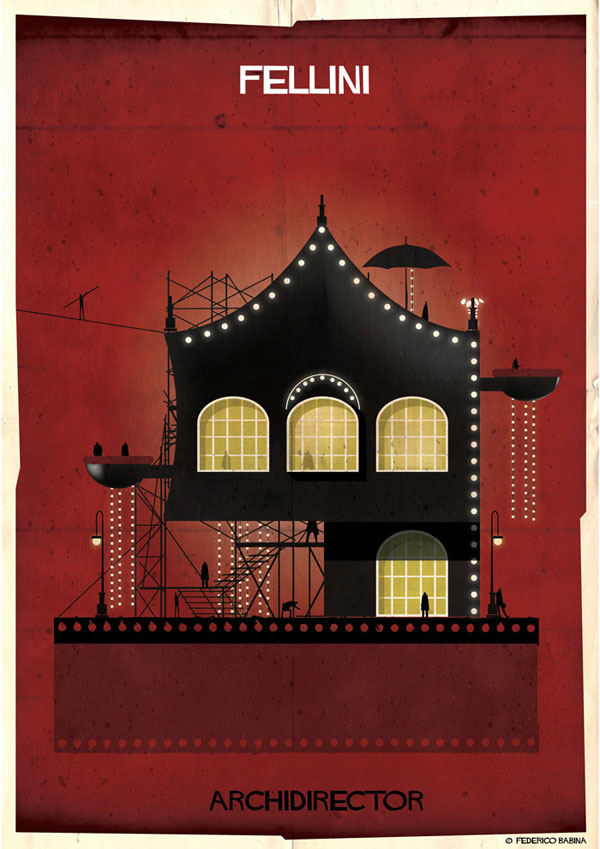 Federico Babina Imagines Architecture in the Film Style of Famous Directors (1)