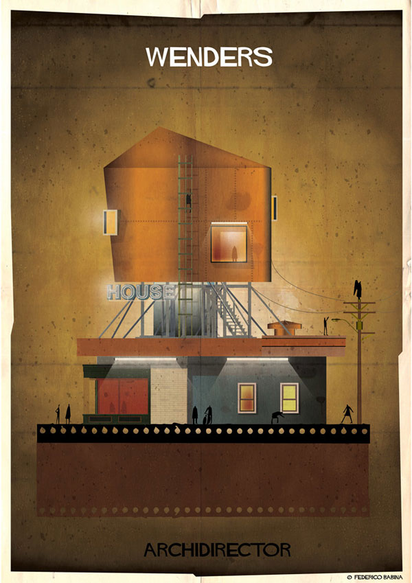 Federico Babina Imagines Architecture in the Film Style of Famous Directors (10)