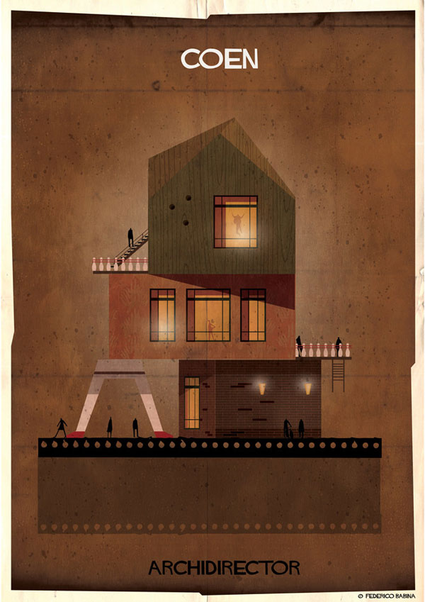 Federico Babina Imagines Architecture in the Film Style of Famous Directors (16)