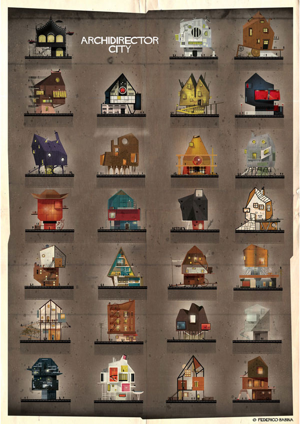 Federico Babina Imagines Architecture in the Film Style of Famous Directors (17)