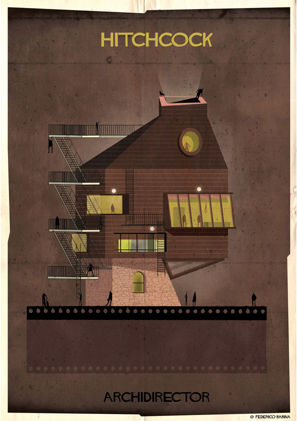 Federico Babina Imagines Architecture in the Film Style of Famous Directors (4)