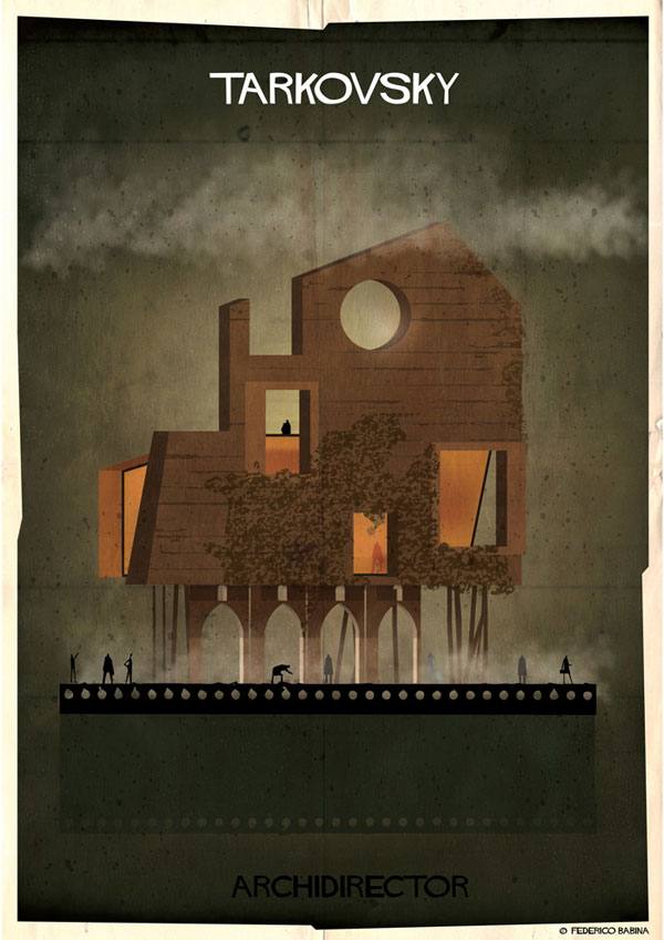 Federico Babina Imagines Architecture in the Film Style of Famous Directors (7)