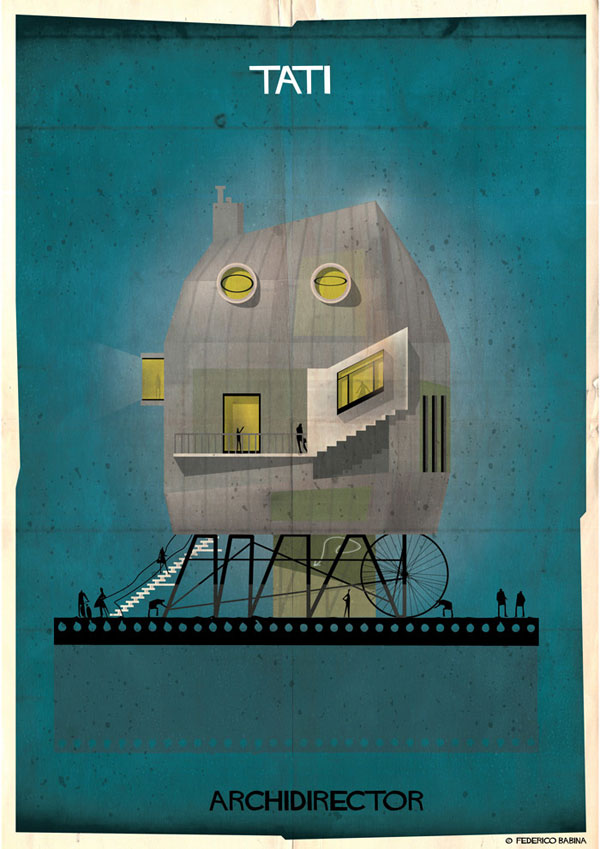 Federico Babina Imagines Architecture in the Film Style of Famous Directors (8)