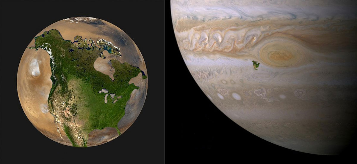 if north america were on mars or jupiter 32 Maps That Will Teach You Something New About the World