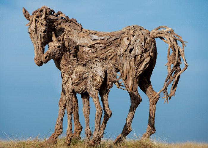 james doran webb driftwood animal sculptures (2)