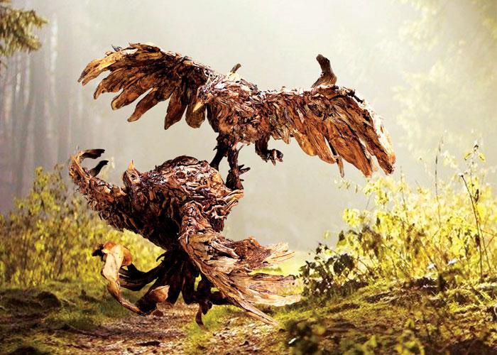 james doran webb driftwood animal sculptures (3)