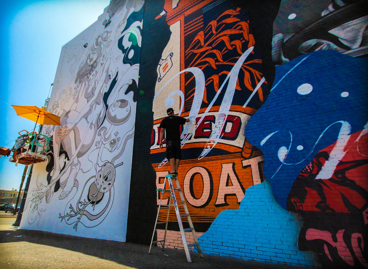 james jean tristan eaton pow wow long beach mural 2015 Picture of the Day: Works in Progress