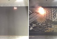 Machine Etches Digital Artworks Into Actual Canvases Using Lasers