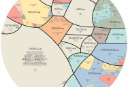 Proportional Pie Chart of the World's Most Spoken Languages