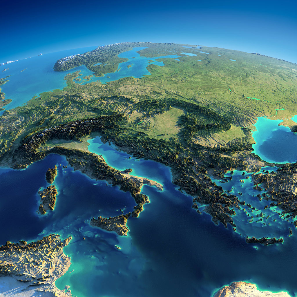 relief maps of earth with exaggerated mountain ranges (3)
