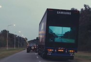 Samsung Wants to Outfit Trucks with Cameras and TVs So You Know When It's Safe to Pass