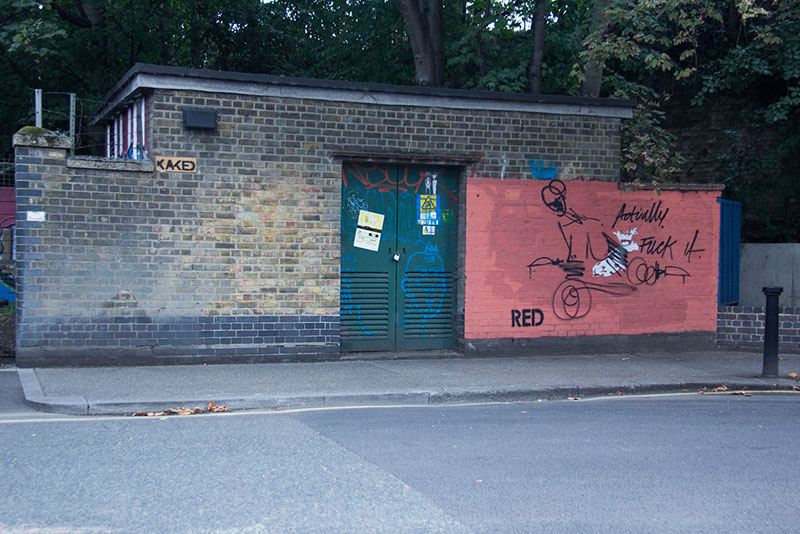 Street Artist mobstr and City Worker Have Year Long Exchange on Red Wall in London (3)