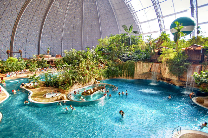tropical islands resort the Giant Waterpark Inside an Old German Airship Hangar (2)