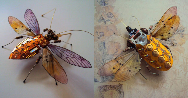 winged insects made from discarded electronics (19)