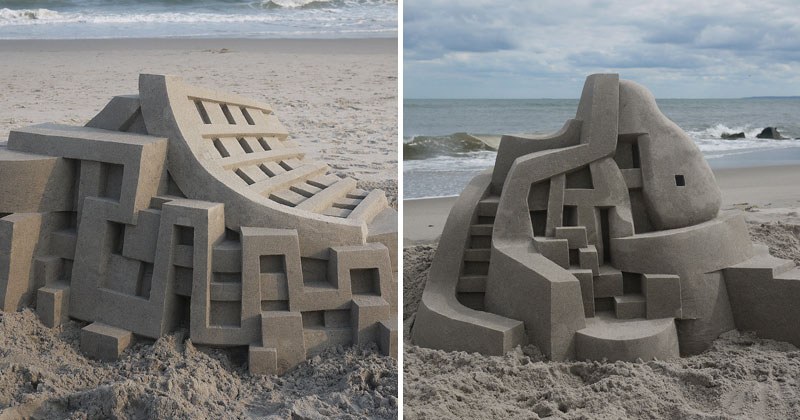 If Frank Gehry Made Sand Castles (10 Photos)
