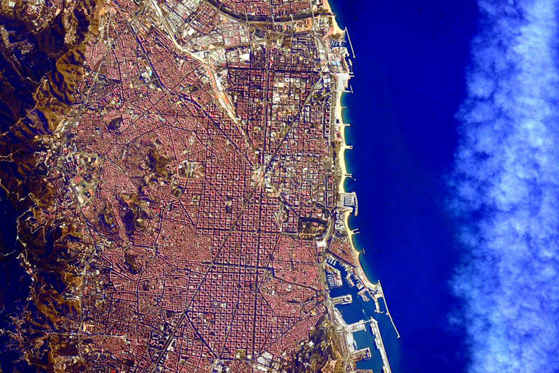 barcelona from space by scott kelly Picture of the Day: Barcelona from Space