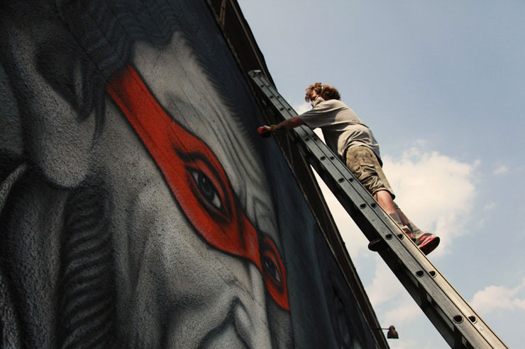 brooklyn street art owen dippie jaime rojo 2 Teenage Mutant Ninja Renaissance Turtles